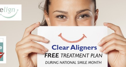 Free Smilelign Clear Braces teeth straightening consultation during National Smile Month (normally £75)