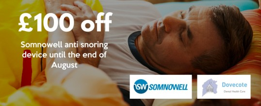 £100 off the price of a Somnowell anti snoring device until the end of August